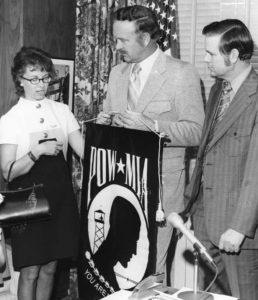 Mary Hoff with Mayor Tanzler