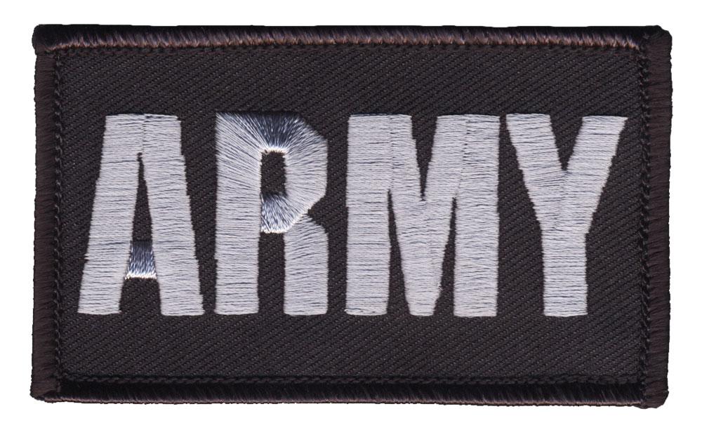 U S  Army Hook & Loop Patch (Black)