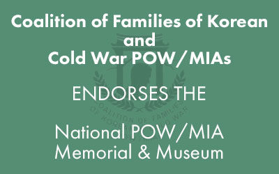 The Coalition of Families of Korean and Cold War POW/MIAs Endorsement
