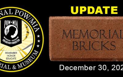 Memorial Brick Update